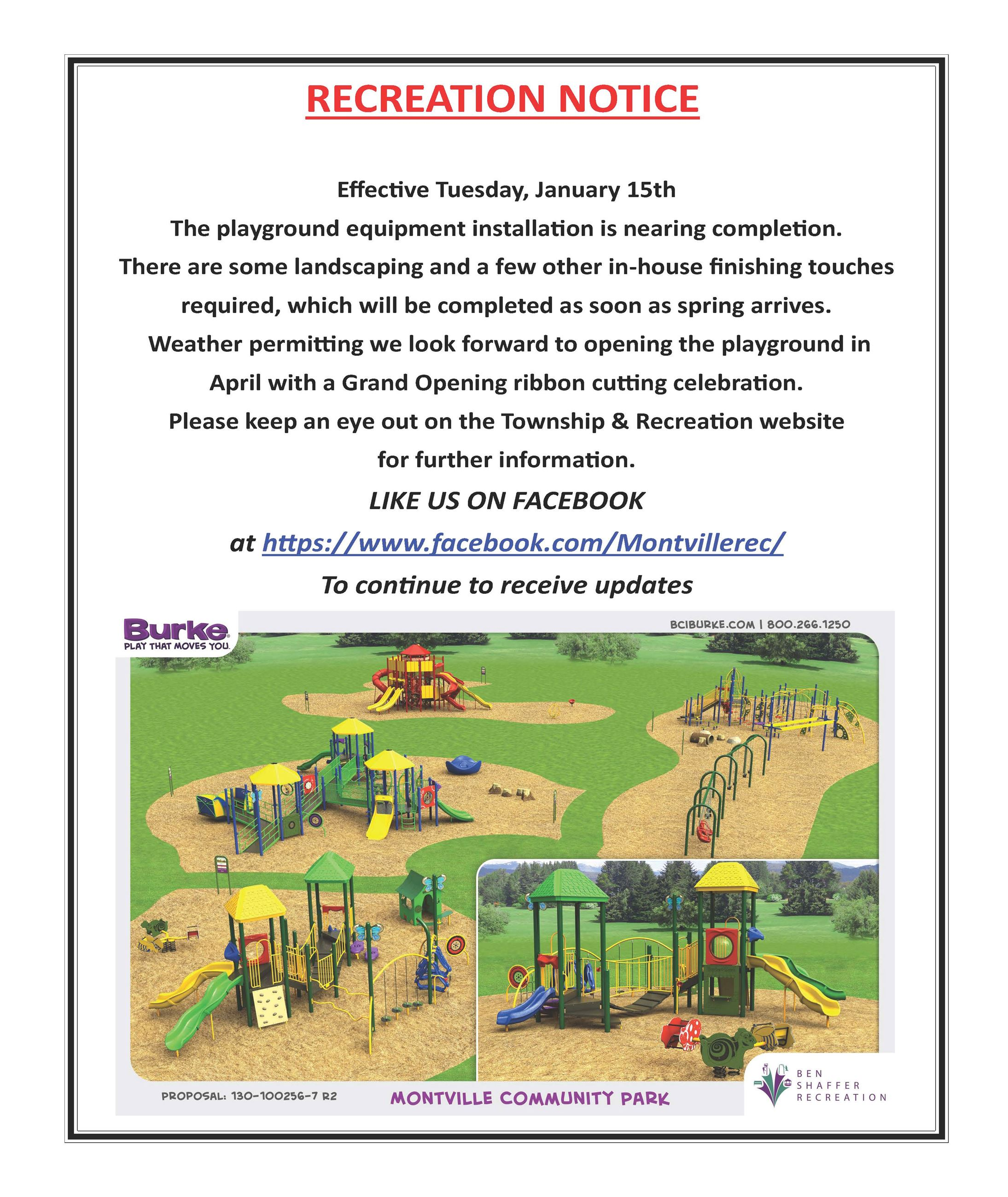 Playground Closure UPdate